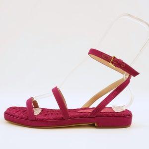 Stuart Weitzman Purple Ankle Strap Sandals 6.5